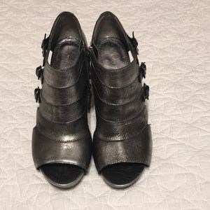 Nine West booties.  Dark gray metallic. Size 6